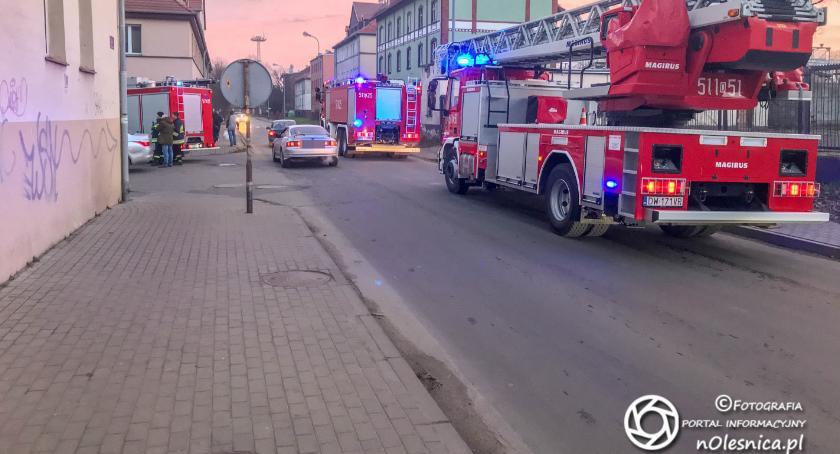 Na sygnale, Interwencja strażaków Moniuszki - zdjęcie, fotografia