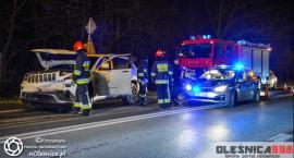 Zderzenie Jeepa i Volvo na Spalicach - sprawca nietrzeźwy